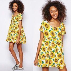 American Apparel Sunflower babydoll mini dress